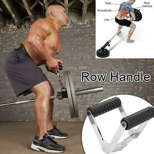 Gym Fitness T-bar For Pulley Cable Machine Back Muscle Workout Ro R9S7