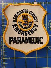 Vintage New Castle County Emergency Paramedic Delaware Patch DE Medical EMT EMS