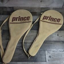 VINTAGE Pair Lot of 2 Prince Graphite 90 Tennis Racket Covers 1970s
