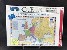 JEUX NATHAN , puzzle C.E.E poster / 600 pièces /1991