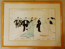 ORIGINAL BELLE EPOQUE STYLE MENU FROM FAMOUS RESTAURANT MAXIM HISTORY AND ART