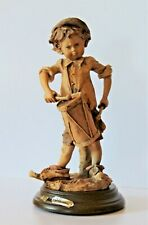 Vintage G Armani Gullivers World Band Drummer Figurine 1981 Rare Sepia Mrp $225