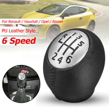 6 Speed + R Gear Shift Knob For Renault Megane Scenic Clio Trafic Vauxhall