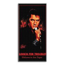 Elvis Presley Looking for Trouble Vegas 28x58 Fiber Reactive Cotton Beach Towel