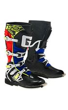 GAERNE REACT RED/YELLOW/BLUE MX BOOTS, ENDURO, TRAIL & OFF ROAD BOOTS
