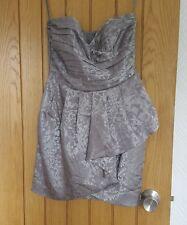 Silver Peplum h&m Dress Size 8 New