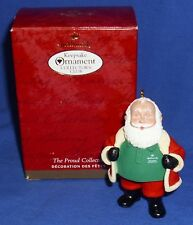Hallmark Club Ornament The Proud Collector 2000 Santa Claus Used Store Display