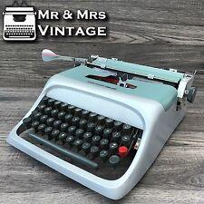 Serviced Olivetti Underwood Studio 44 Silver & Green typewriter WORKING ribbon