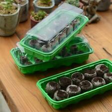 Garden Green House Plants Start Jiffy Peat Pellets Seeds Kit Grip Nursery Trays