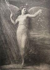 """Henri Fantin-Latour """"L'immortalité"""" lithographie 1898 L'estampe Moderne ."""