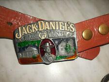 SELTEN ORIGINAL Ledergürtel 1980 Jack Daniel's Old No.7 .Bergamot Distillery
