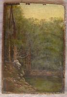 Huile sur toile école française du XIXème paysage