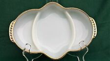 VINTAGE COLLECTIBLE ANCHOR HOCKING FIRE KING WARE RELISH TRAY U.S.A.