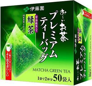 Itoen Ryokucha Green Tea Matcha Blend Premium Pack of 50 Japan free ship