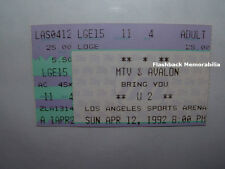U2 Concert Ticket Stub 1992 LOS ANGELES SPORTS ARENA Achtung Baby MTV Bono RARE