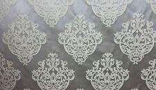 "Platinum Damask Castille 343 Jacquard Upholstery Drapery Fabrics 57"" wide"