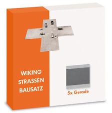 Wiking 119902 H0 Straßen Bausatz Gerade 5x