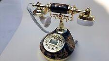 Classical Ceramic Desk Telephone Vintage Button Dial Retro Antique Phone LAST 1