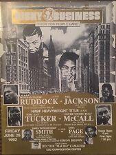 1992 DONOVAN RAZOR RUDDOCK vs PHIL JACKSON Boxing Championship Fight Program