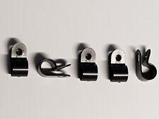 10 Stück Klebesockel 28x28mm SCHWARZ  UV-Beständig selbstklebend Kabelhalter