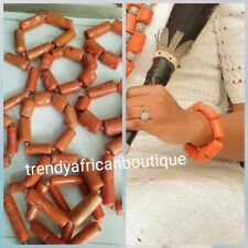 Nigerian/Edo Traditional wedding coral hand bracelet. One size fit. Sold per one