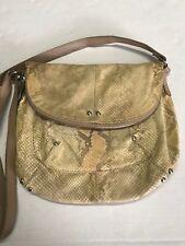 MAURIZIO TAIUTI Leather Python Snake Skin Handbag Made in Italy
