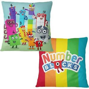 Numberblocks Official Square Cushion 40 x 40cm Matches Bedding Cbeebies