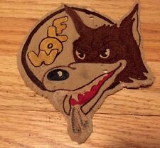 "Vintage WWII US Army Air Force Wolf Jacket Patch. Hand Sewn 7"" x 5"" Inches Rare."