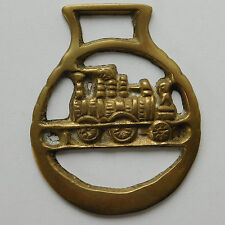 Old Horse Brass Steam engine railway history Old transport train collectable
