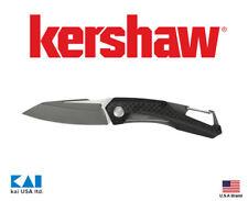 "Kershaw Knives 1220 Reverb Folding Knife 2.5"" 8Cr13MoV PVD Blade Carbon Fiber"