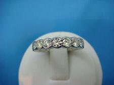 3.0 CARAT HALF BEZEL ETERNITY DIAMOND WEDDING-ANNIVERSARY  BAND-RING SIZE 6