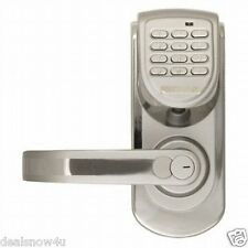 Security Code Keyless Digital Door Lock Entry Home Left Handle Silver Safelock
