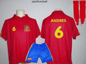 Spanien Trikot Erwachsenen Größen Name Nr möglich zB Müller Torres Iniesta Götze