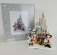 Mickey Mouse and Friends at Cinderella Castle Holiday Christmas Figure