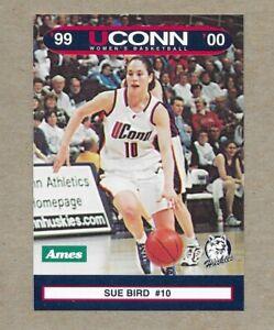 1999-00 UConn Women Ames Sue Bird Card - MINT
