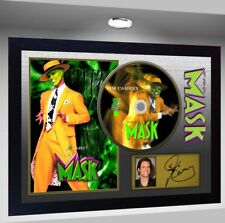 NEW! The Mask Jim Carrey SIGNED FRAMED PHOTO CD Disc Perfect gift Framed poster