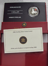 2006 CANADA STERLING SILVER DOLLAR LUCKY LOONIE ENAMEL PROOF
