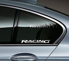 2 - RACING BMW M3 M5 M Power E36 E39 E46 E60 Decal sticker  emblem logo WHITE