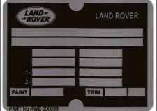 Later Land Range Rover & Discovery ID Chassis Info all-blank-vin-chassis-plates
