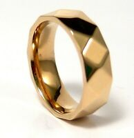 Yellow Gold PVD Band Ring Stainless Surgical Steel