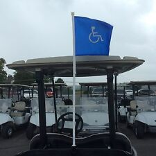 Six golf cart handicap flags-Golf Course manager special -no clamps or brackets