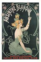 Absinthe Blanqui Art Nouveau Liquor Advertisement Art Print Poster 12x18 inch