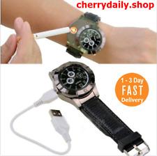 Reloj Negro Vestir Encendedor de Cigarrillo Cigarro Para Hombre ~ Lighter Watch