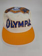 Vintage Olympia Tumwater Beer Painters Cap Hat Elastic Back USA Washington