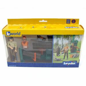 Bruder Bworld Logging Set with Man 62650