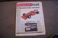 Motoring News 30 January 1985 National Rally & GpA Saloon Racing Review Calendar