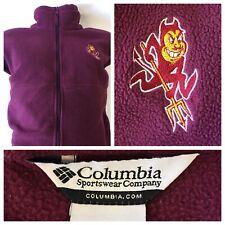 Men's Columbia Full Zip Fleece Jacket ASU Sun Devils Size 2X-Large XXL 2XL