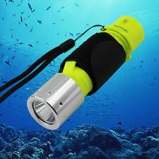New White LED CREE T6 Diving Flashlights Lamp Underwater Torch Light With Straps