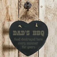 Personalised Birthday Home Gift Personalised Dad's BBQ Slate Hanging Sign Plaque