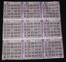 BINGO PAPER Cards 9 on, Purple Tint Border 50 sheets FREE SHIPPING